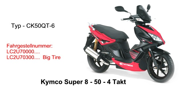 super 8 4t big tire kymco scooterparts. Black Bedroom Furniture Sets. Home Design Ideas