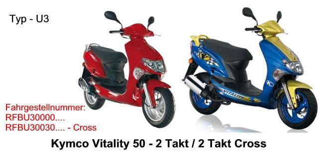 Auspuff f/ür Kymco Vitality 50 2T und Cross