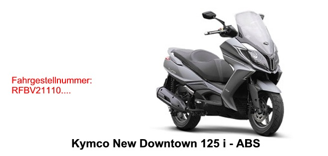 new downtown 125i abs kymco scooterparts. Black Bedroom Furniture Sets. Home Design Ideas