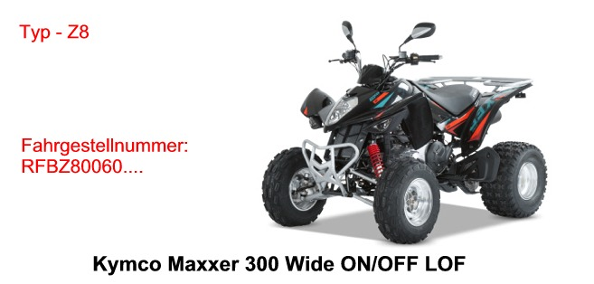 Maxxer 300 Wide ON / OFF Road LOF