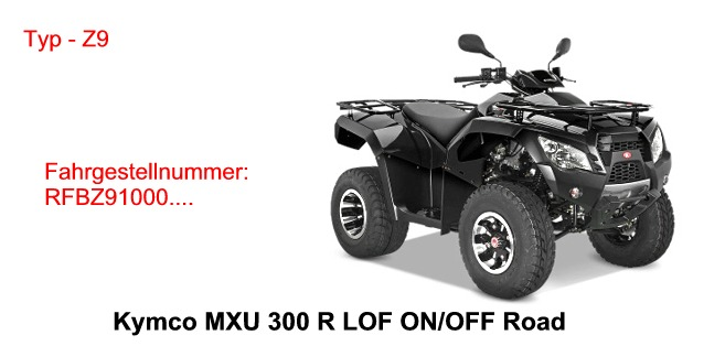 MXU 300 R LOF ON / OFF Road
