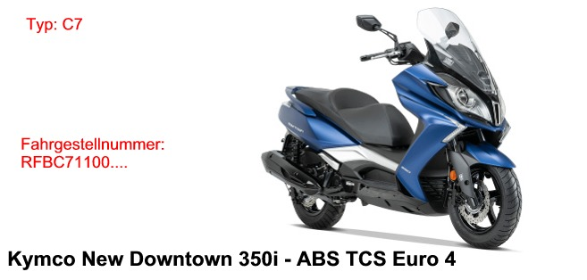 New Downtown 350i ABS TCS E4